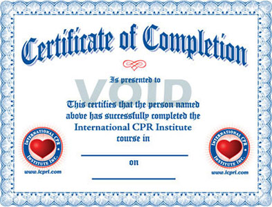 Online CPR and First Aid Courses – First Aid Certificate Template